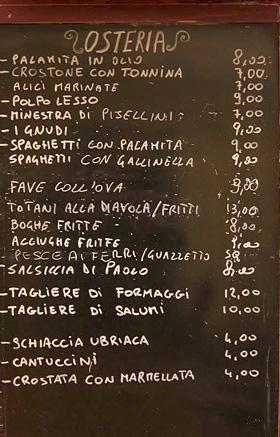 menu ristoranti Elba
