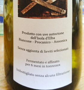 vino bianco Elba locanda cecconi