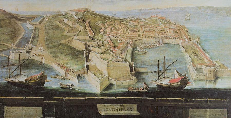 Portoferraio Elba carta settecento