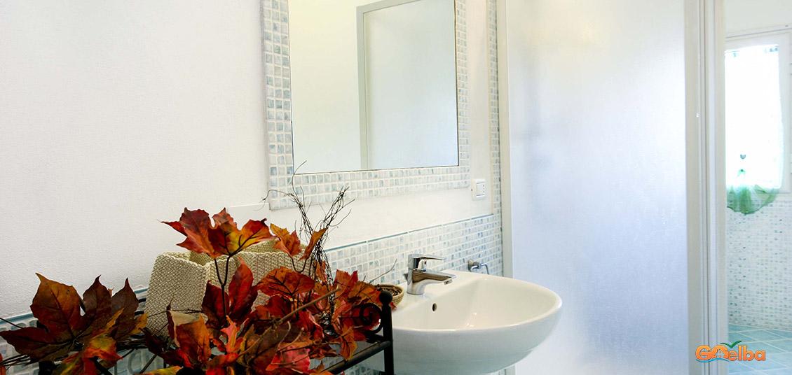 Annarita apartments Marina di Campo Bathroom with flowers